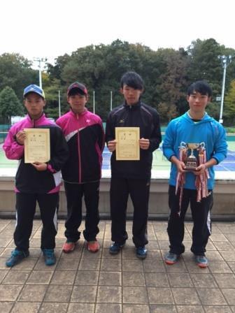 11/24四市高等学校ソフトテニス大会結果