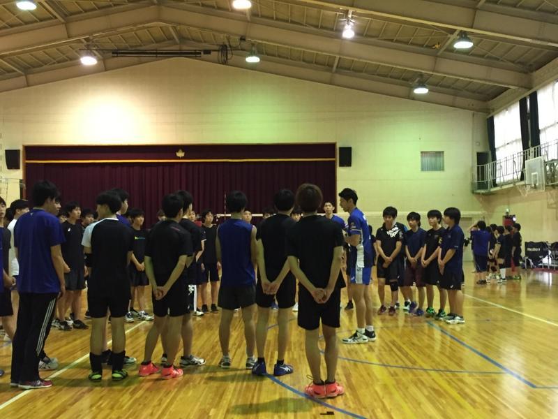 バレーボール教室(@狭山経済高校)